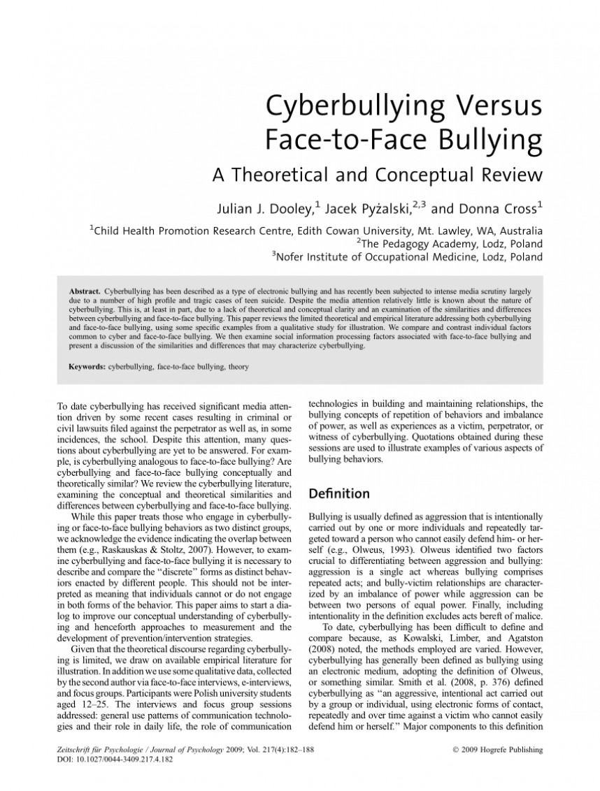 003 Bullying Research Paper Review Of Related Literature Striking