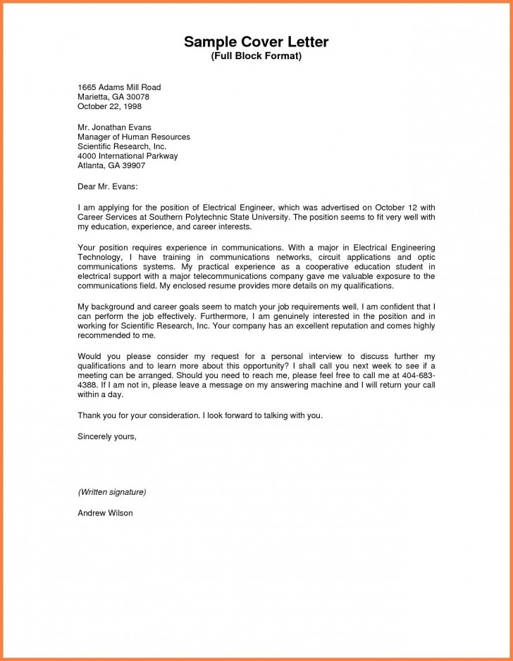 003 Business Letter Sample Full Block Valid Style Format Standard Of Research Awful Paper 728