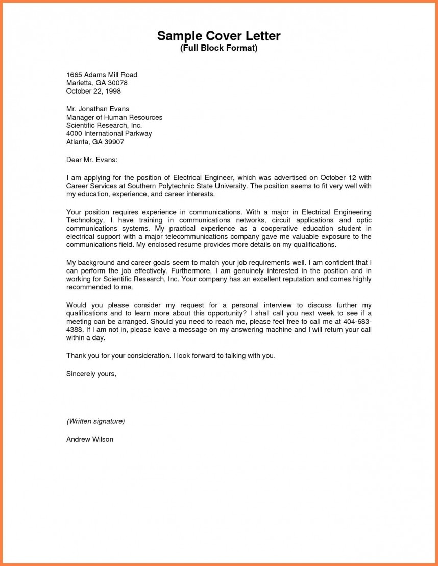 003 Business Letter Sample Full Block Valid Style Format Standard Of Research Awful Paper 868