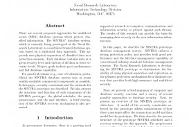 003 Database Security Research Paper Abstract Fascinating 320