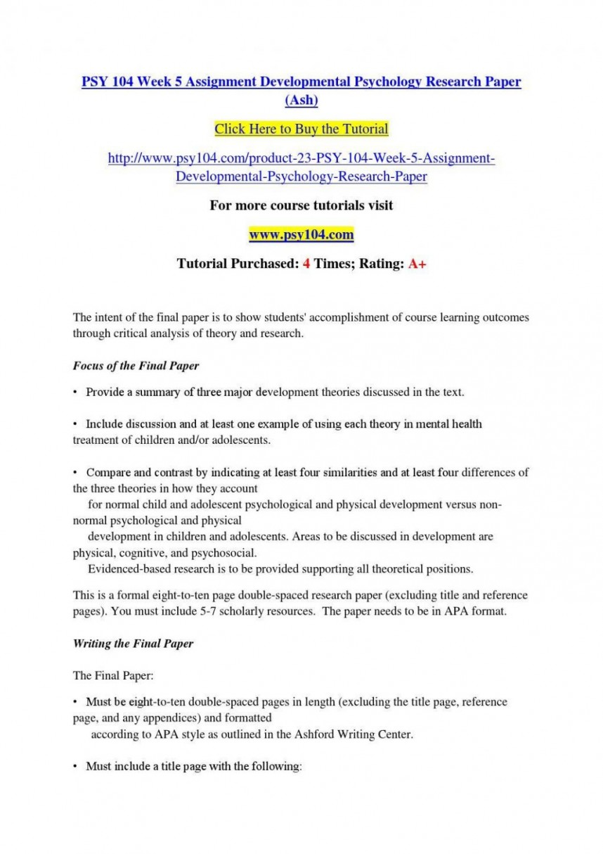 003 Developmental Psychology Essay Ideas Structure Psychological20ent Paper Topics Pdf20 1024x1449 For Dreaded Research Papers In Potential