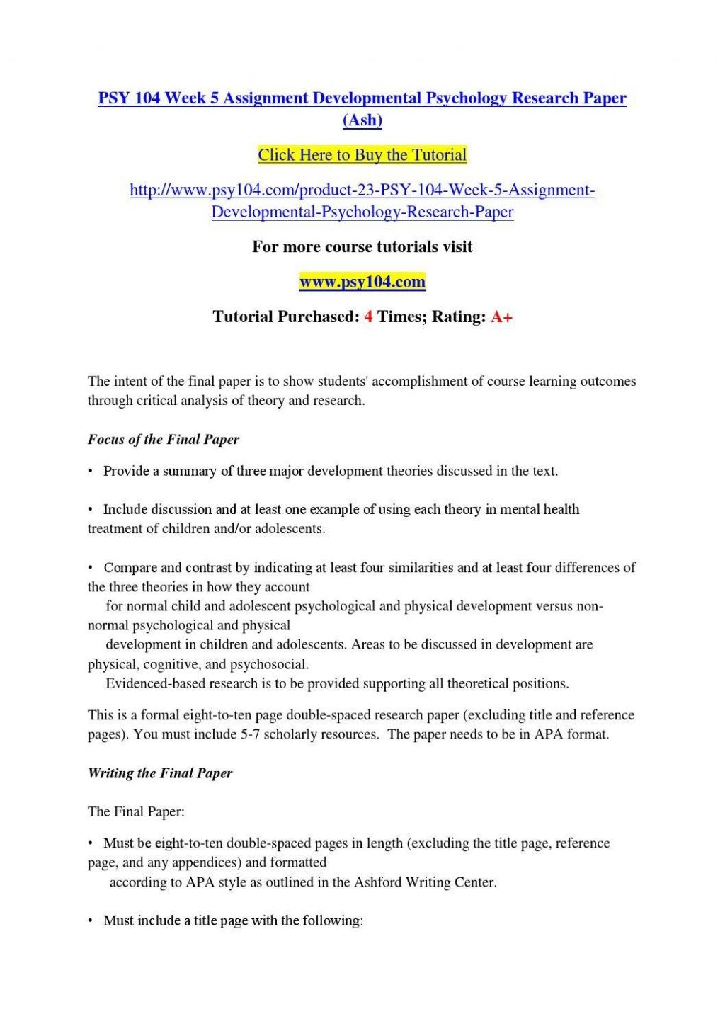 003 Developmental Psychology Essay Ideas Structure Psychological20ent Paper Topics Pdf20 1024x1449 Research Child For Dreaded Papers Large