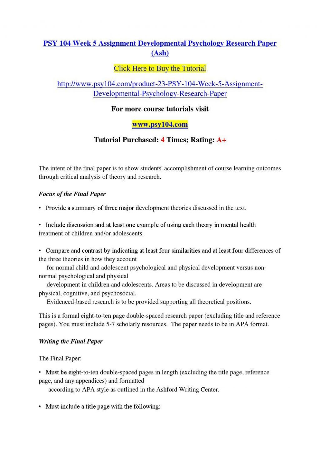 003 Developmental Psychology Essay Ideas Structure Psychological20ent Paper Topics Pdf20 1024x1449 Research Child For Dreaded Papers Full