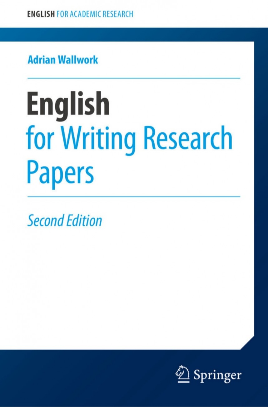003 Englishforwritingresearchpapersbyadrianwallwork Thumbnail English For Writing Researchs Springer Awesome Research Papers Useful Phrases -