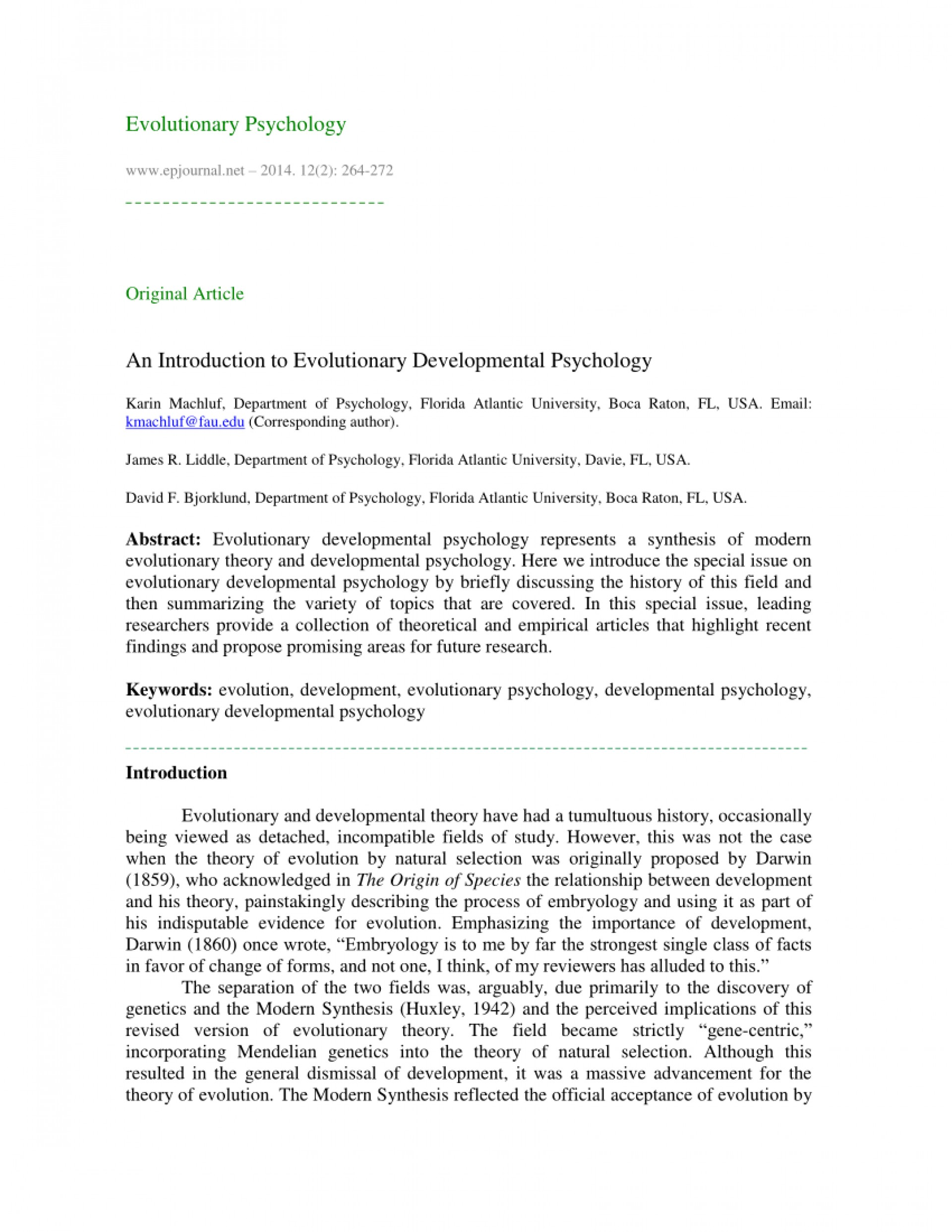 003 Evolutionary Psychology Topics For Research Papers Paper Unique 1920