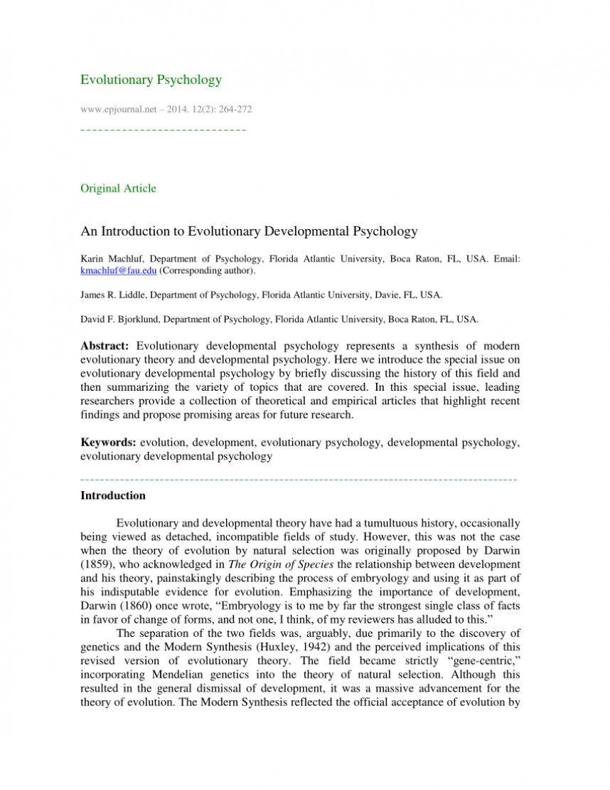 003 Evolutionary Psychology Topics For Research Papers Paper Unique