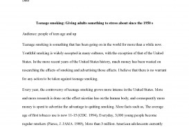 003 Free Research Papers Online Paper Teen Smoking Sample Page 1 Staggering Find Get