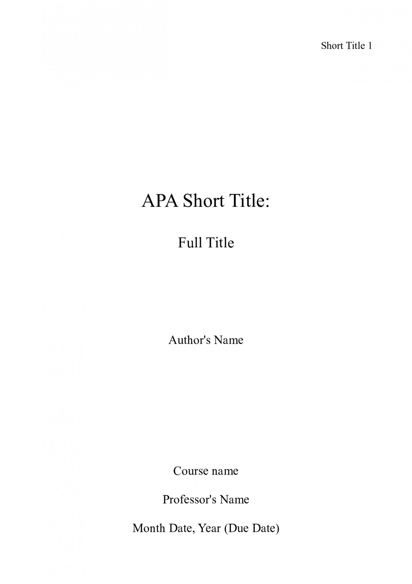 003 Front Page Of Term Paper Example Research Apa Title Unforgettable Sample 1400