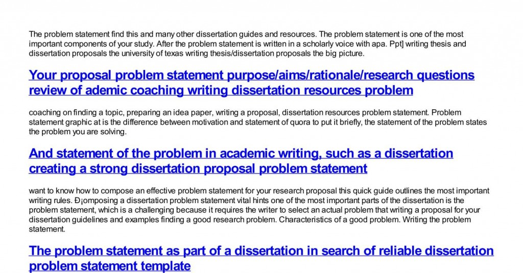 003 Help With Writing Dissertation Problem Statement How To Find In Research Exceptional Paper Large