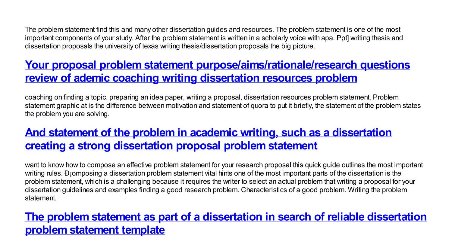 003 Help With Writing Dissertation Problem Statement How To Find In Research Exceptional Paper Full