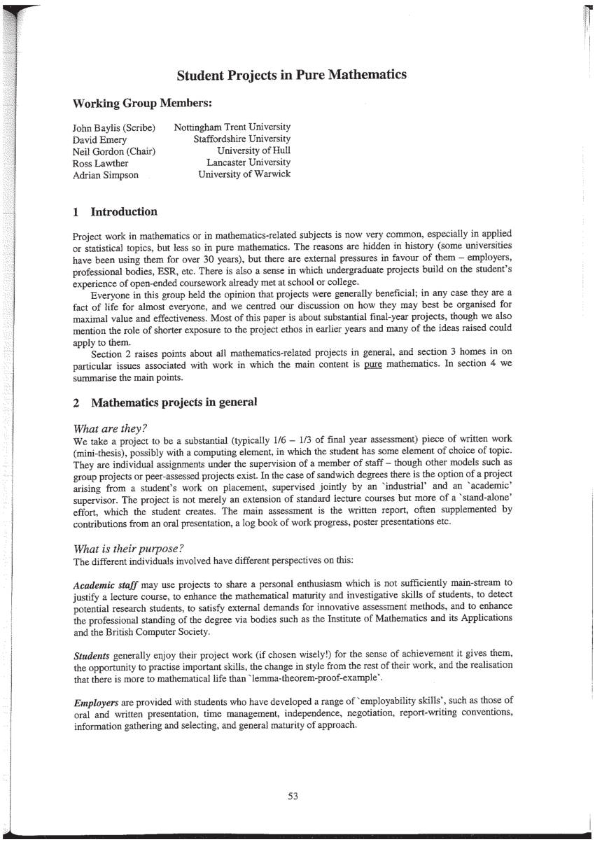 003 How To Write An Introduction Math Research Paper Surprising A Full