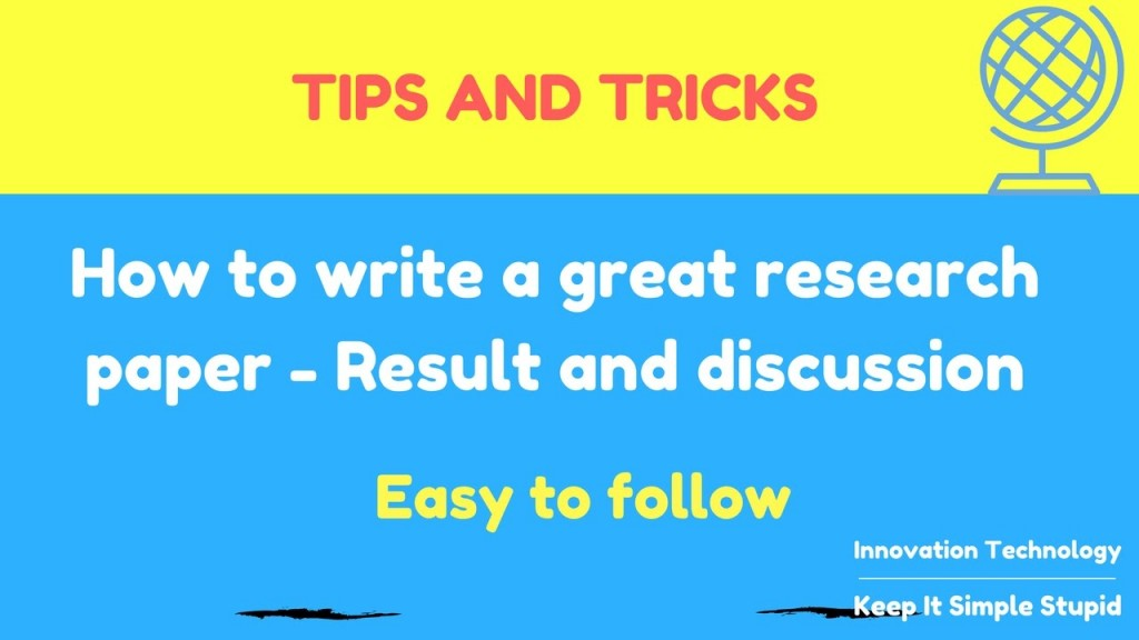 003 How To Write Research Paper Fast Youtube Rare A Large