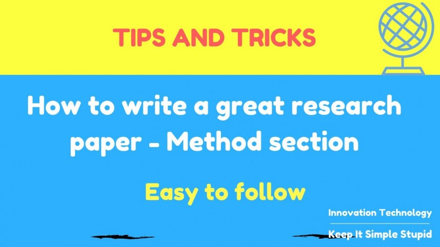 003 How To Write Research Paper Methods Section Phenomenal A The Results Of Qualitative Ppt Apa