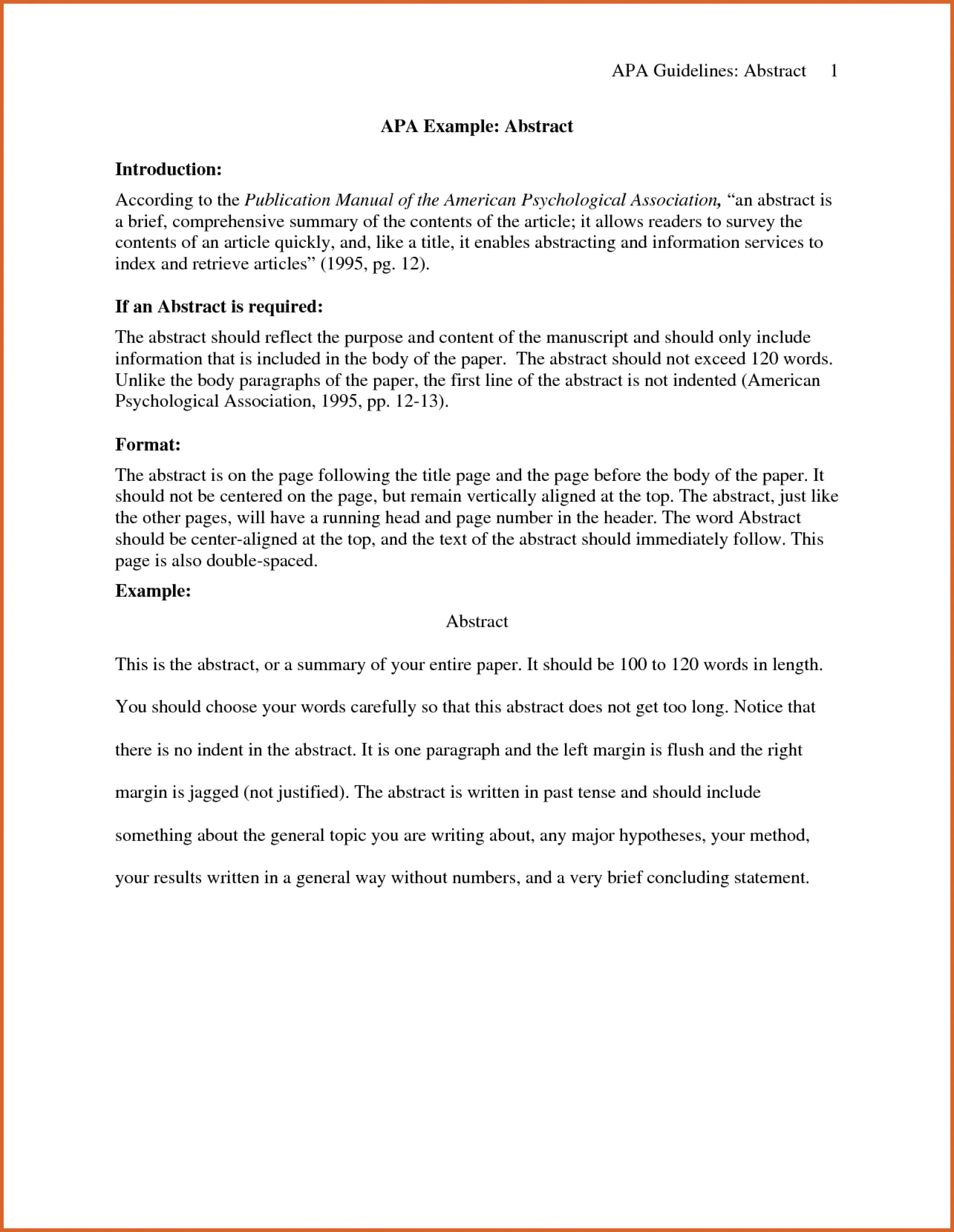 003 Ideas Collection Abstract Example Apa Sampleearch Paper Charming Of For Sensational Research Writing An A Style Sample 1920