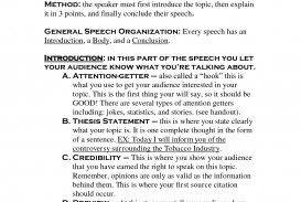 003 Informative Thesis Statement Examples Research Unforgettable For A Speech