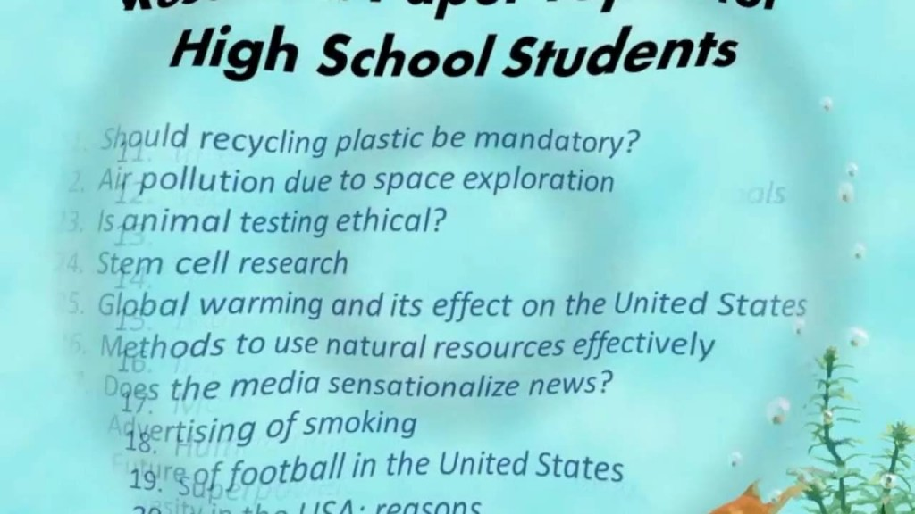 003 Interesting Topics For Research Paper High School Frightening A Students Argumentative Large