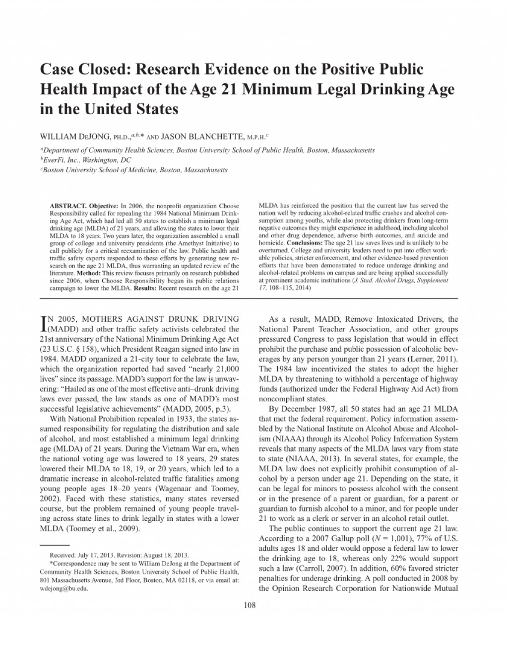 LOWER THE LEGAL DRINKING AGE ESSAY SAMPLE - My Essay Writer