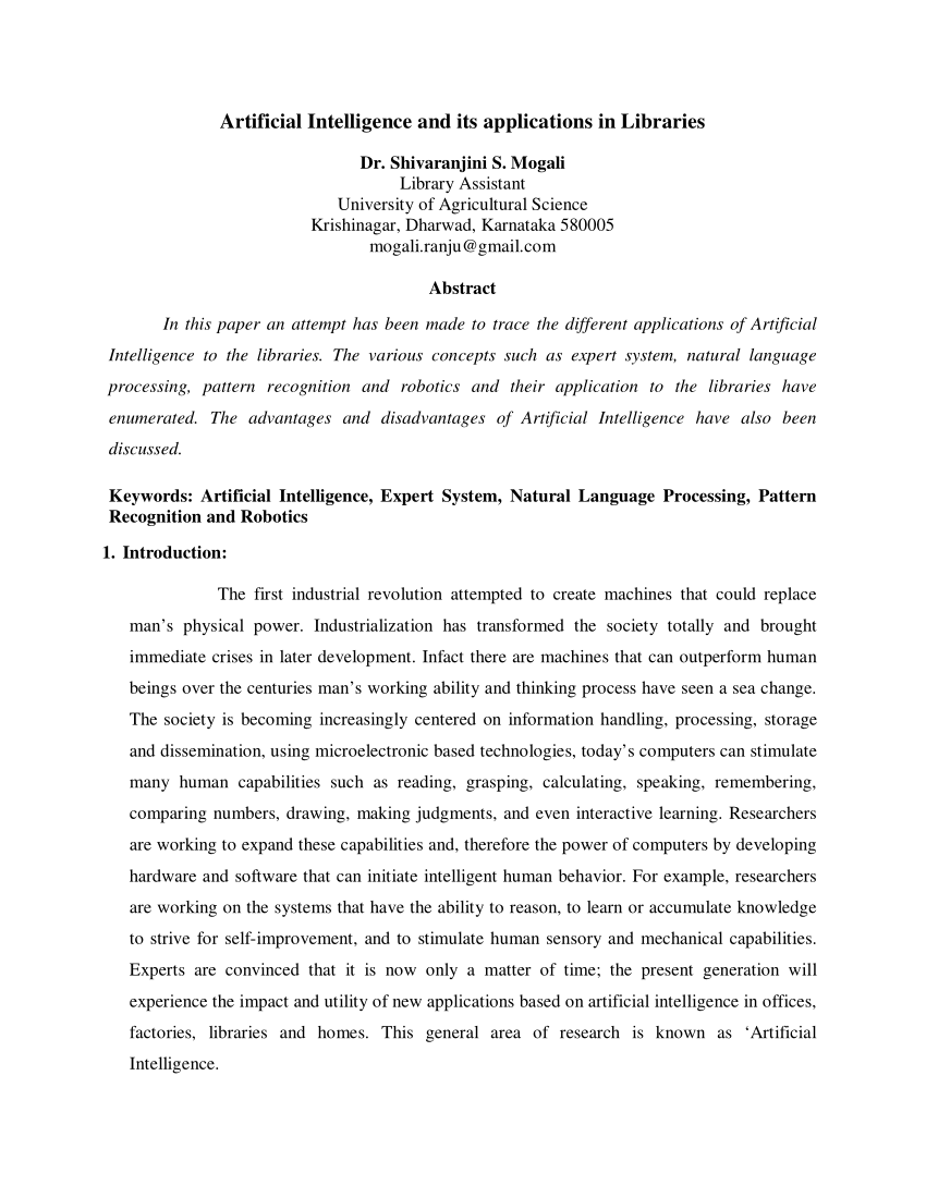 003 Largepreview Research Paper Artificial Intelligence Papers Wonderful Download Full