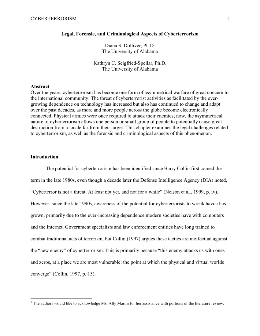 003 Largepreview Research Paper Cyber Terrorism Imposing Essay Full