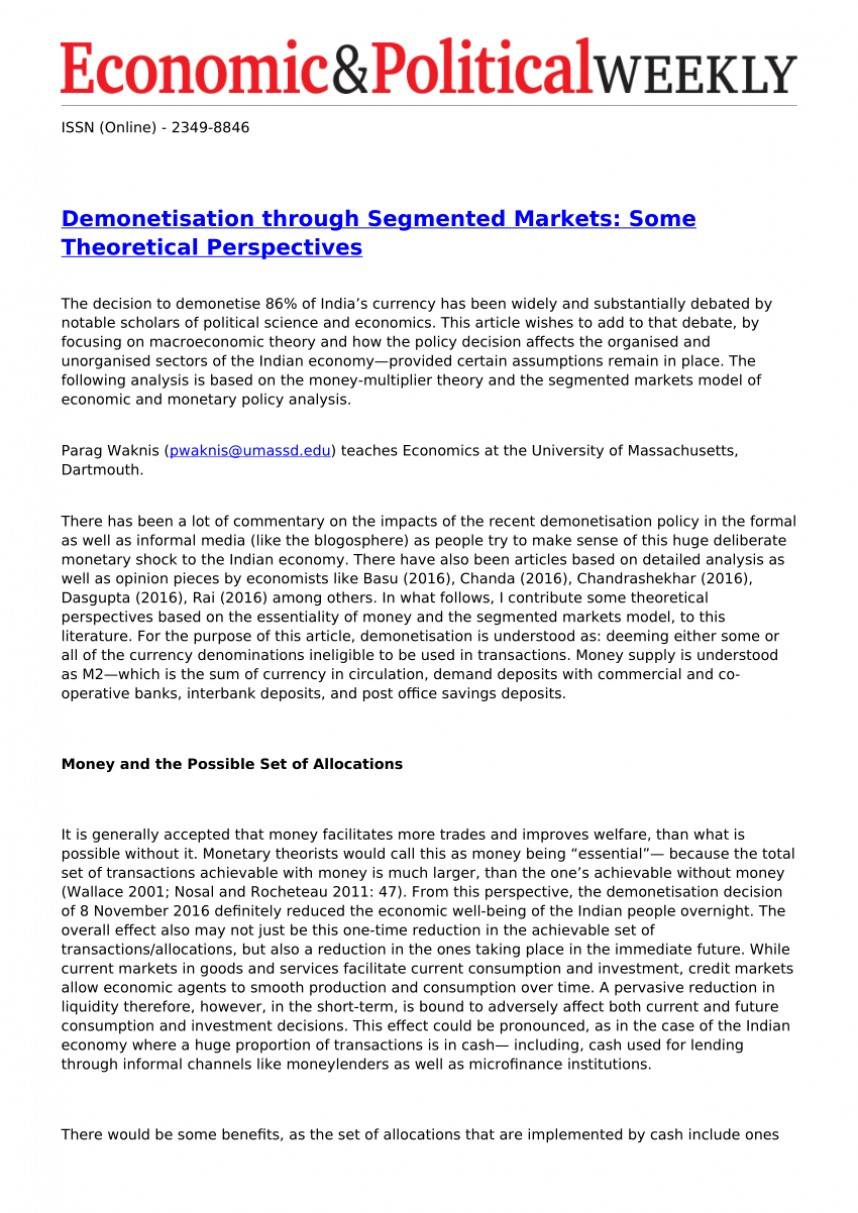 003 Largepreview Research Paper Demonetization And Its Impact On Indian Frightening Economy