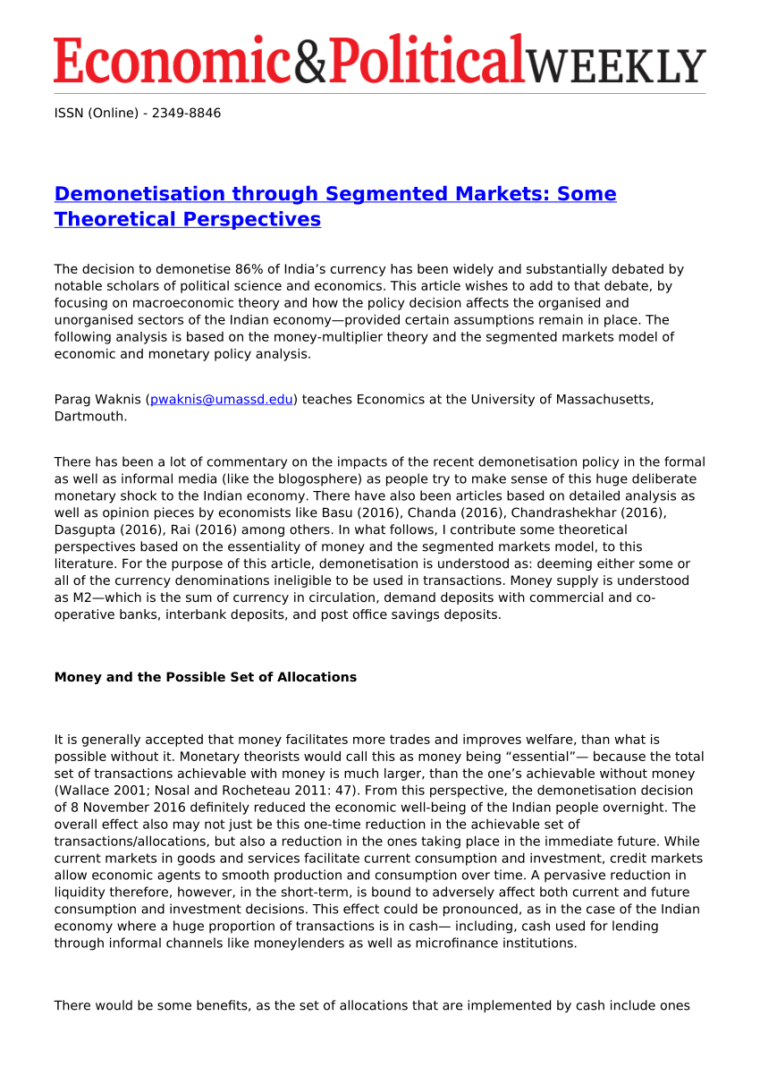 003 Largepreview Research Paper Demonetization And Its Impact On Indian Frightening Economy Full