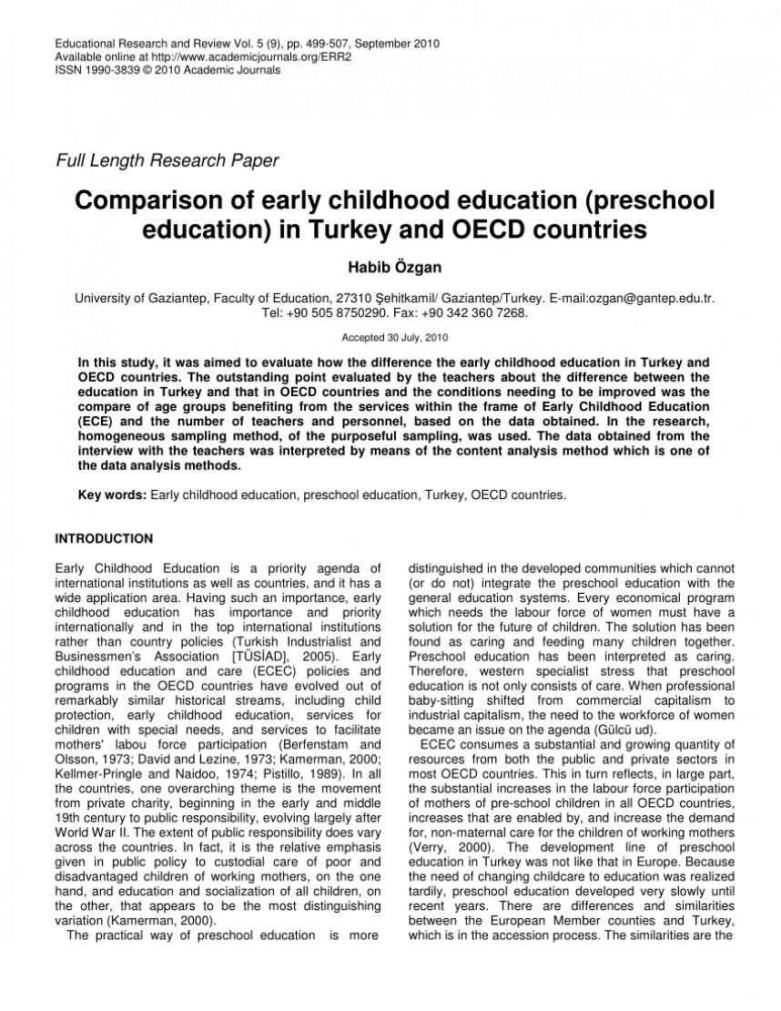 003 Largepreview Research Paper Of Magnificent Education Topics On Online Early Childhood Papers In Pdf Free Download