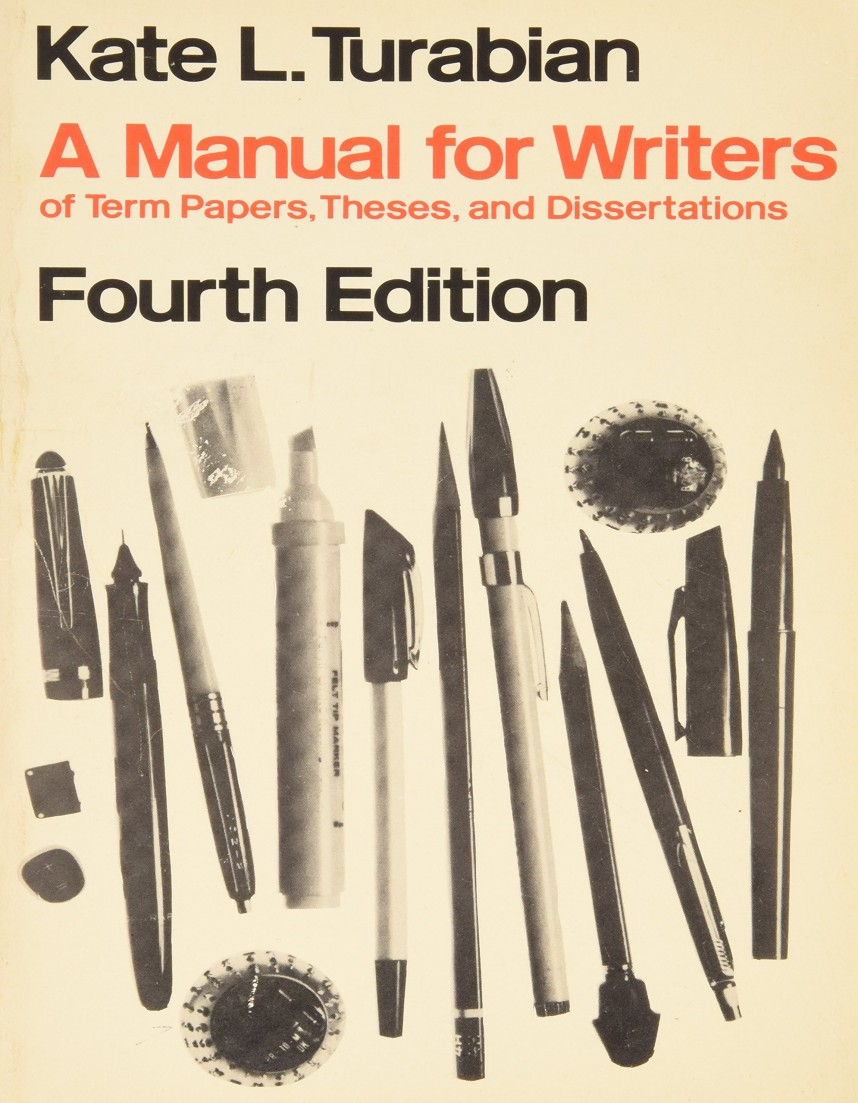 003 Manual For Writers Of Research Papers Theses And Dissertations Paper Fearsome A Ed 8