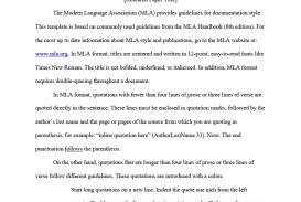 003 Mla Format Template For Research Magnificent Paper Example Works Cited Of With Title Page