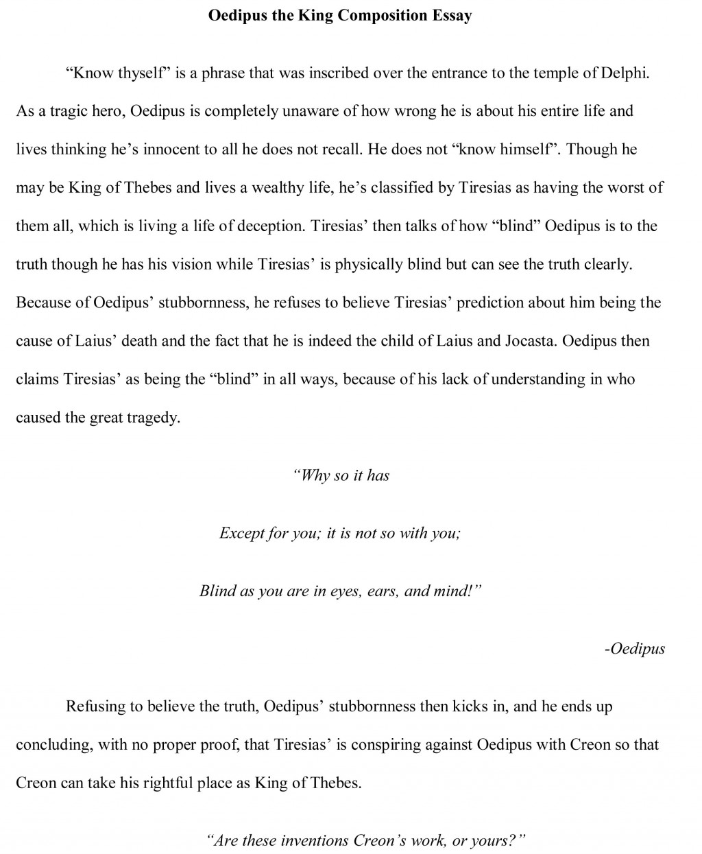 003 Oedipus Essay Free Sample Research Paper 8th Grade Science Stunning Outline Large
