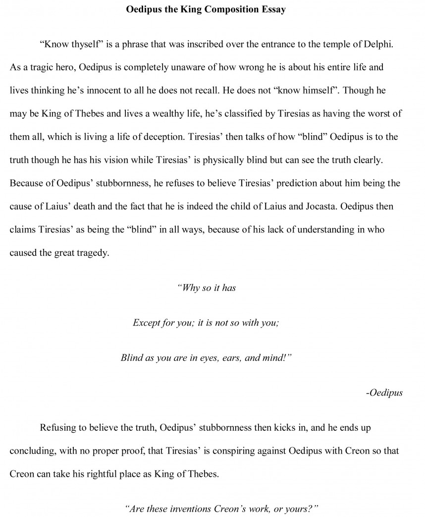 003 Oedipus Essay Free Sample Research Paper 8th Grade Science Stunning Outline