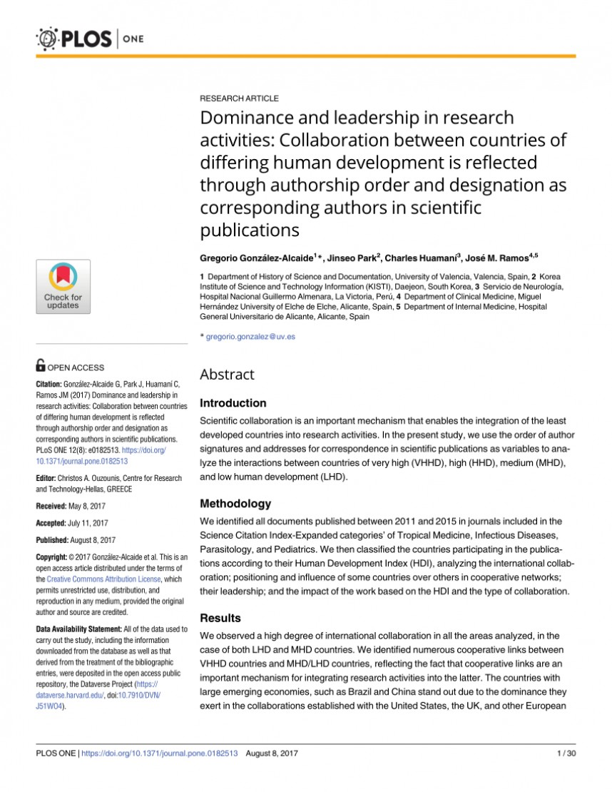 003 Order Of Authors Research Paper Shocking