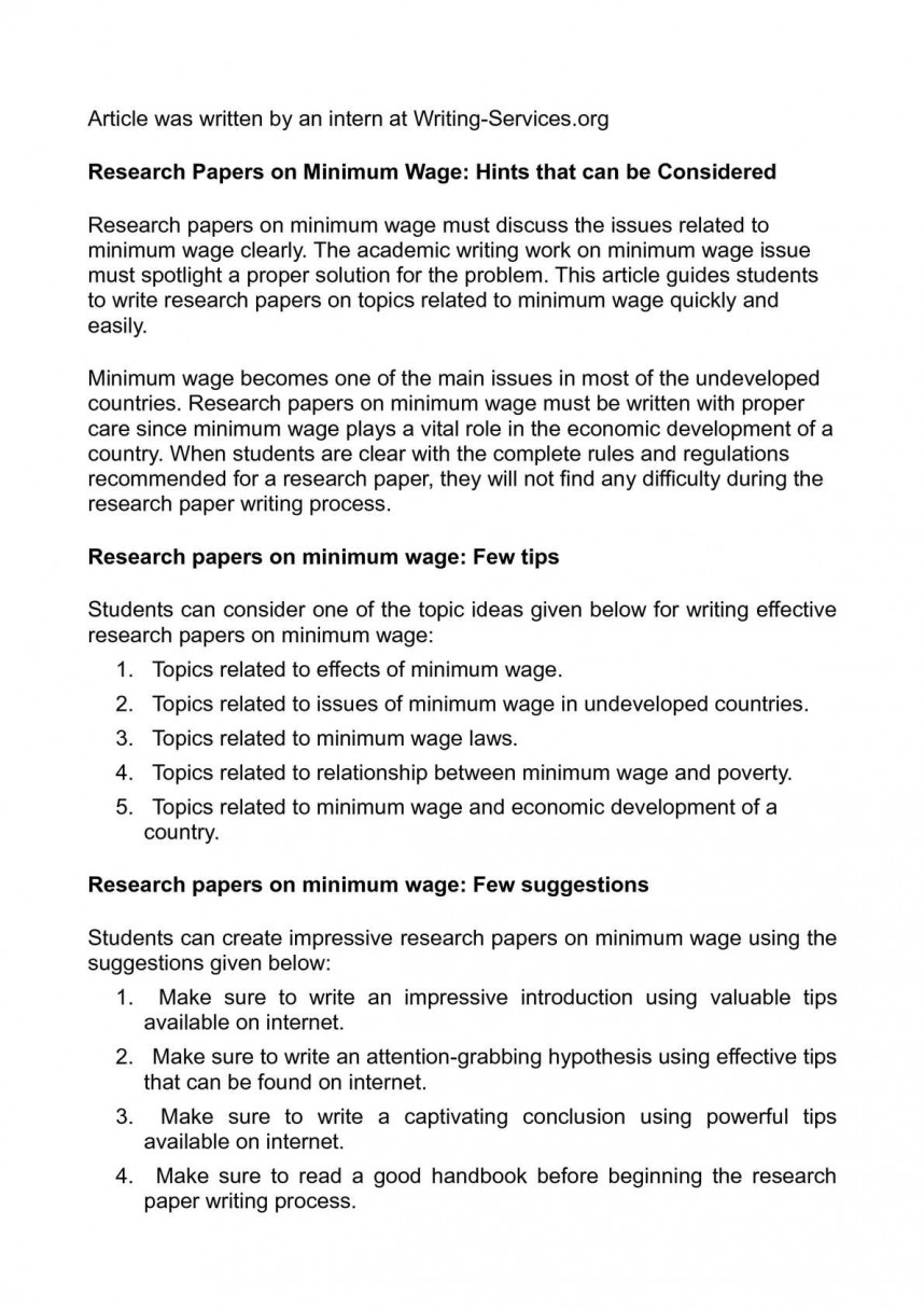 003 P1 Research Paper Minimum Magnificent Wage Malaysia Example Introduction