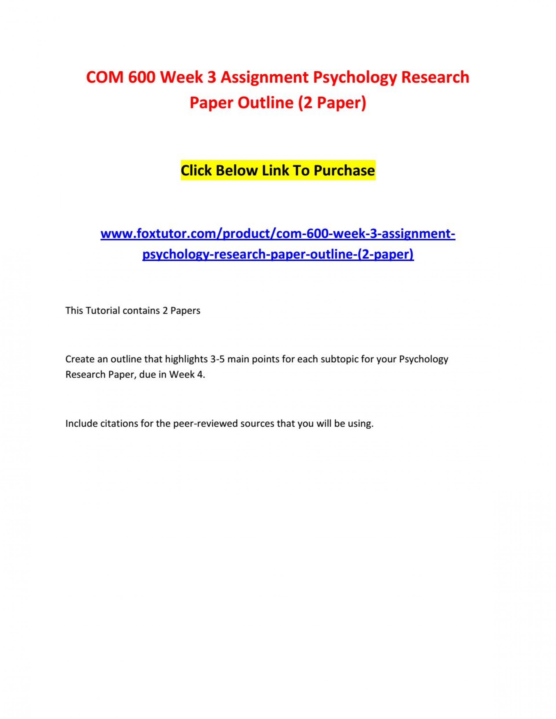 003 Page 1 Psychology Research Paper Outline Com Striking 600 Com/600 1920