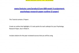 003 Page 1 Psychology Research Paper Outline Com Striking 600 Com/600 320