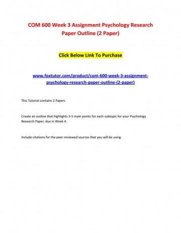 003 Page 1 Psychology Research Paper Outline Com Striking 600 Com/600 360