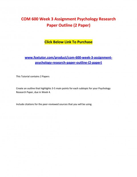 003 Page 1 Psychology Research Paper Outline Com Striking 600 Com/600 480