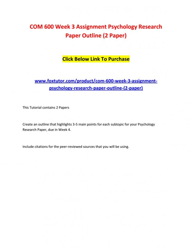 003 Page 1 Psychology Research Paper Outline Com Striking 600 Com/600 728