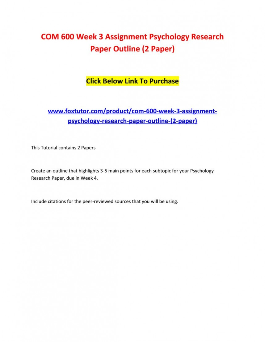 003 Page 1 Psychology Research Paper Outline Com Striking 600 Com/600 868