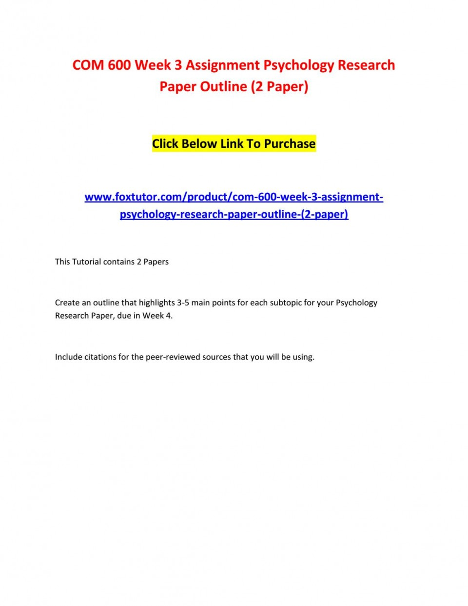 003 Page 1 Psychology Research Paper Outline Com Striking 600 Com/600 960