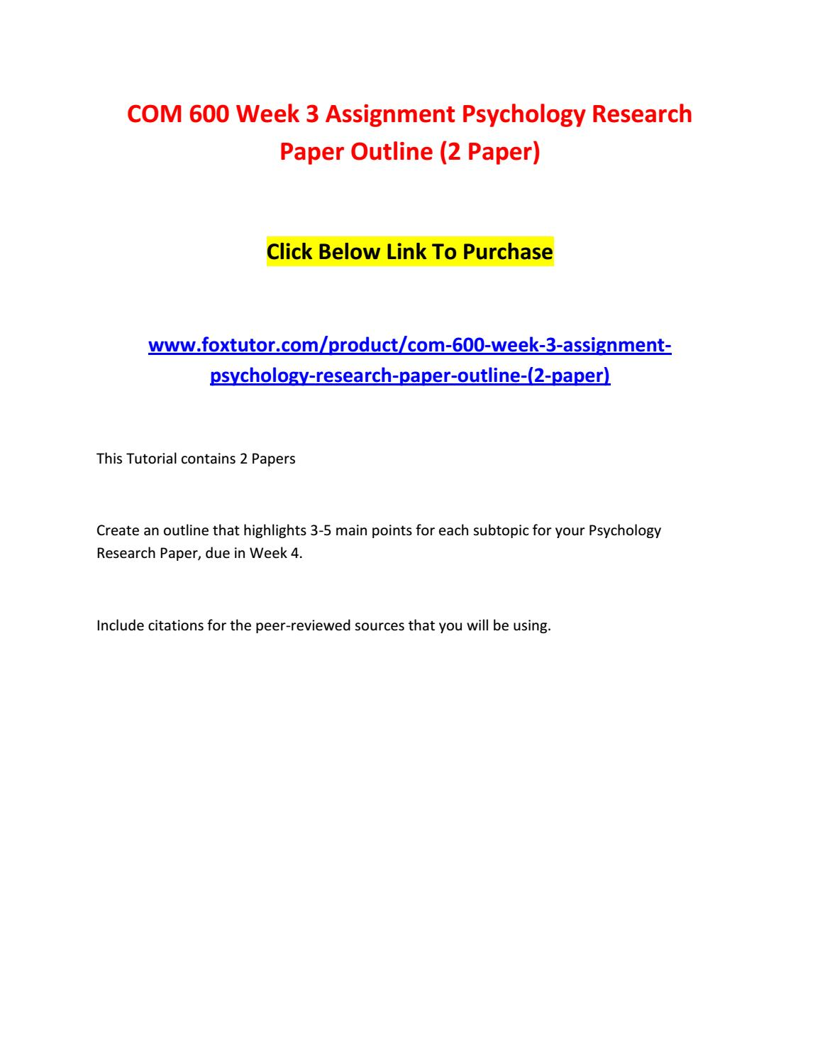 003 Page 1 Psychology Research Paper Outline Com Striking 600 Com/600 Full