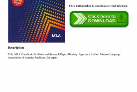 003 Page 1 Research Paper Mla Handbook For Writing Frightening Papers Writers Of 8th Edition Pdf Free Download According To The