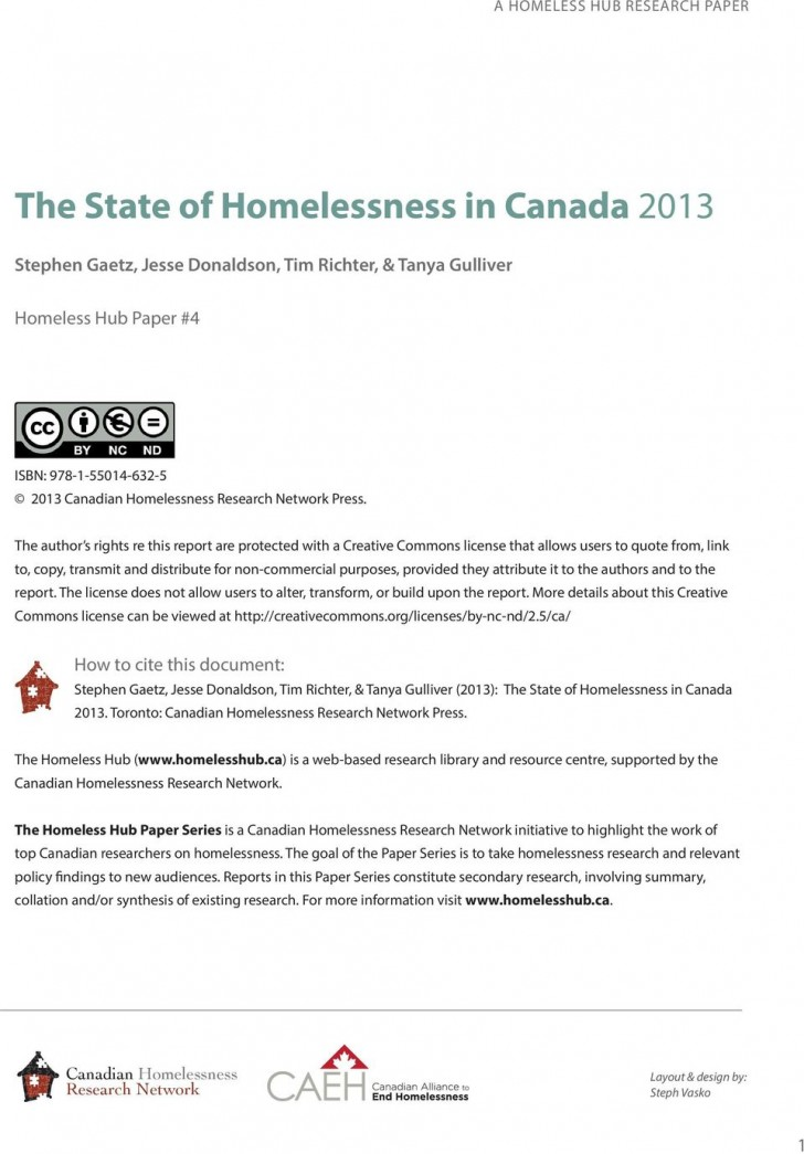 003 Page 2 Research Paper On Singular Homelessness Article In The United States 728