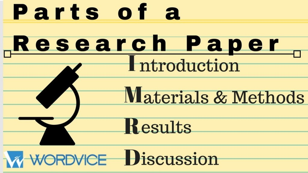 003 Parts Of Research Paper Introduction Wonderful A Large