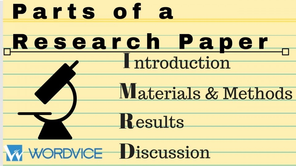 003 Parts Of Research Paper Introduction Wonderful A 960
