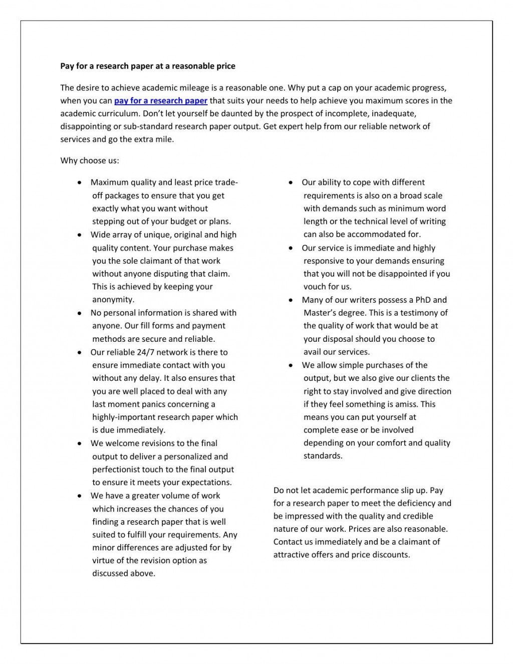 003 Pay For Research Paper Page 1 Formidable A Performance Gap Large