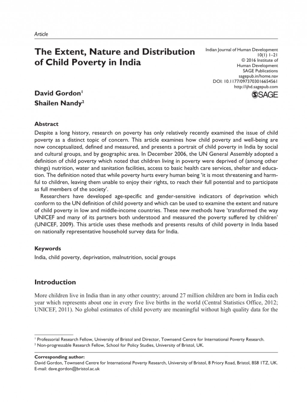 003 Poverty In India Research Paper Pdf Impressive Large