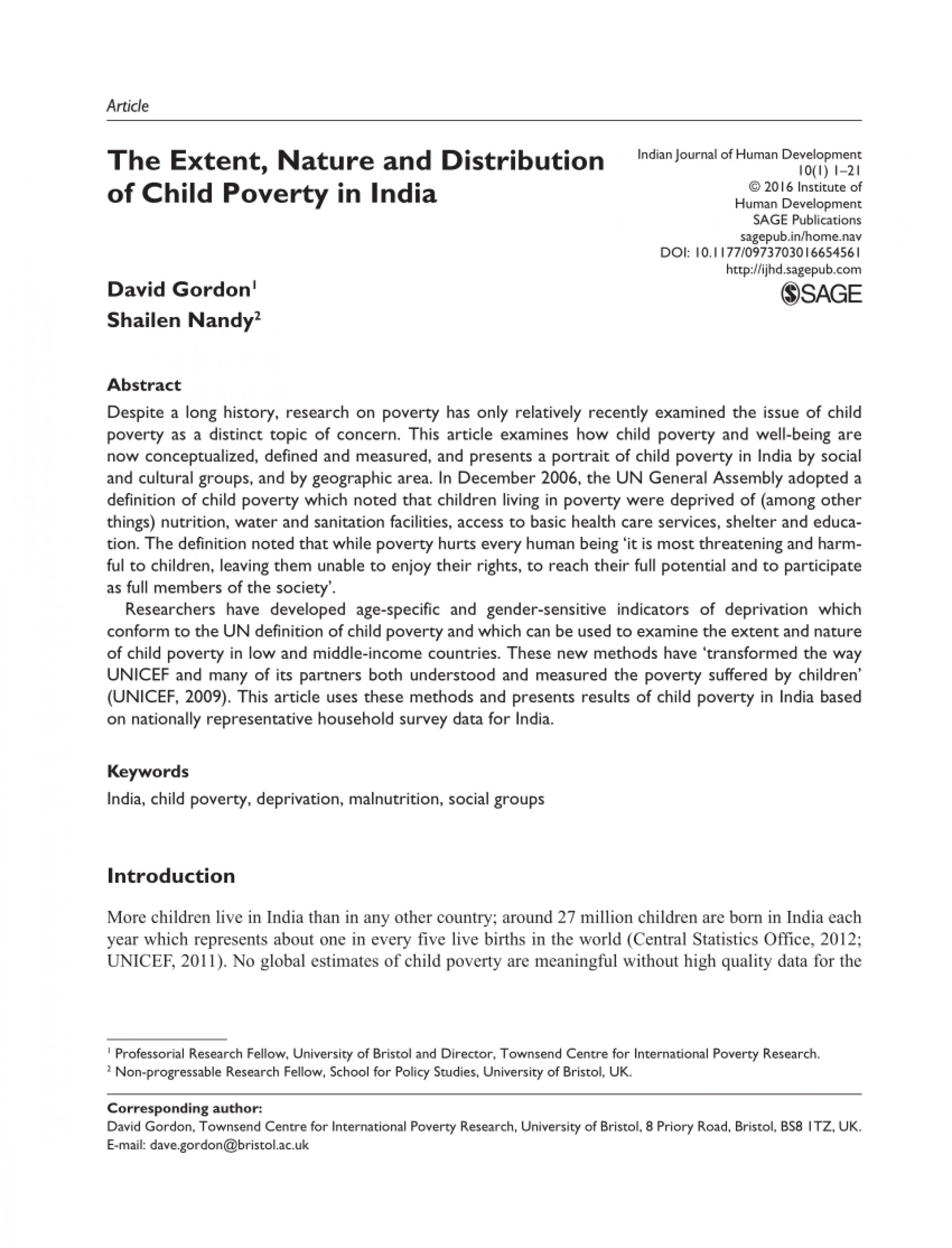 003 Poverty In India Research Paper Pdf Impressive 1920