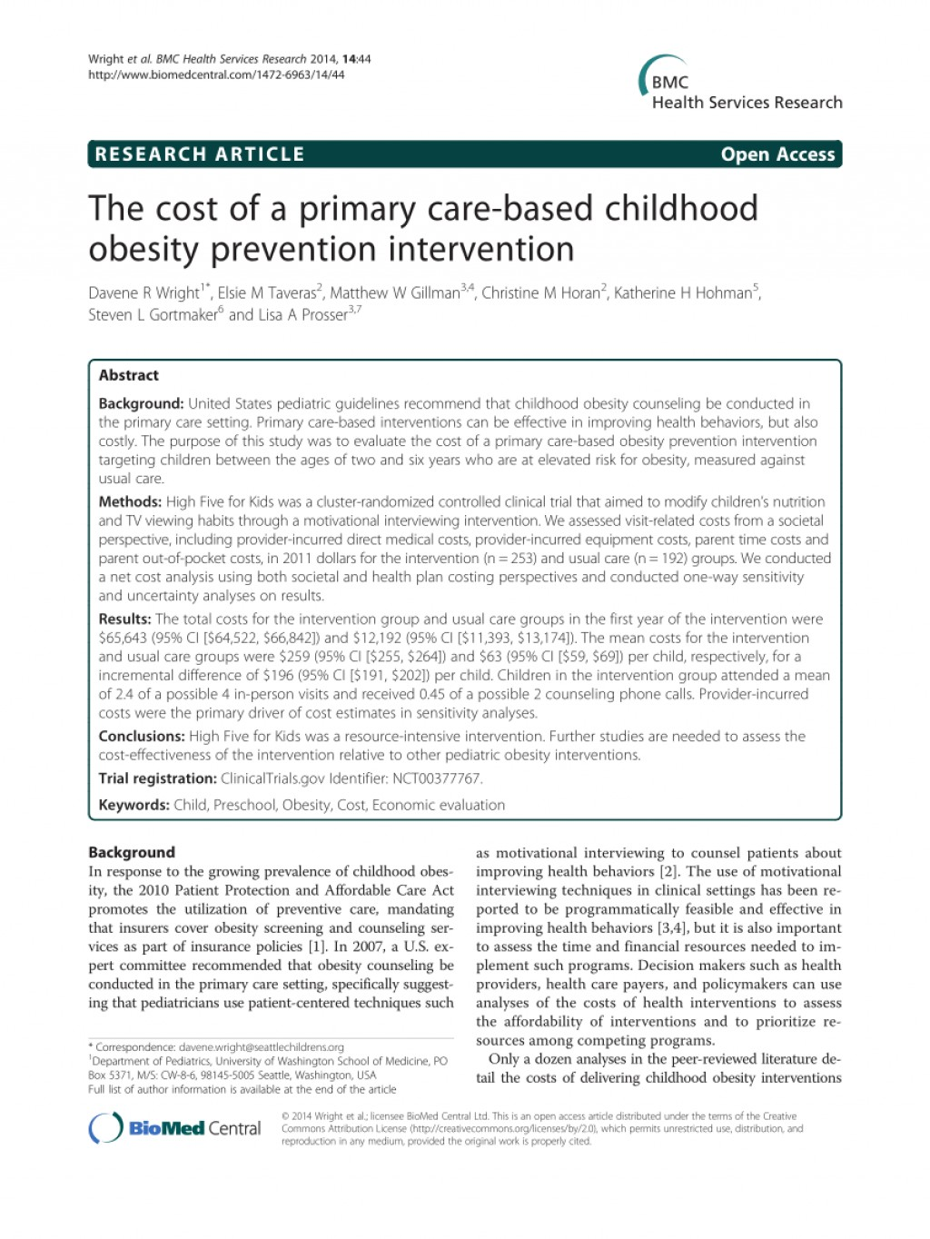 003 Primary Research Article On Childhood Obesity Paper Imposing Large