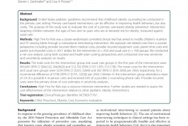003 Primary Research Article On Childhood Obesity Paper Imposing 320