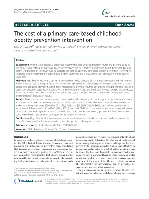 003 Primary Research Article On Childhood Obesity Paper Imposing 480